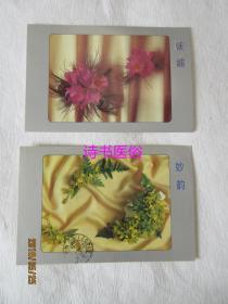 分外妖娆——兰明信片:共2张