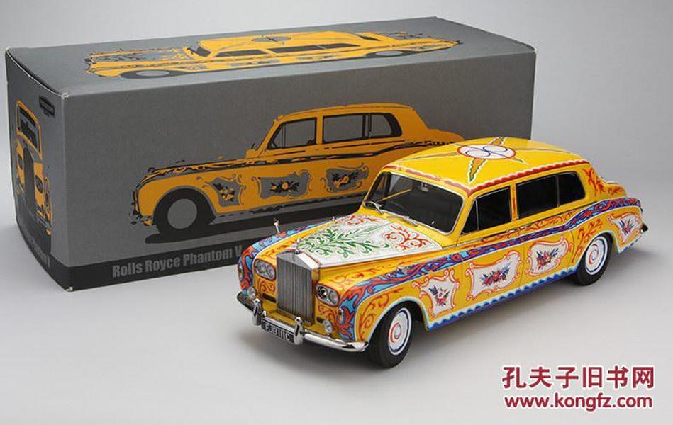 香港Paragon 1:18劳斯莱斯幻影V披头士约翰列侬座驾高仿真车限量版收藏