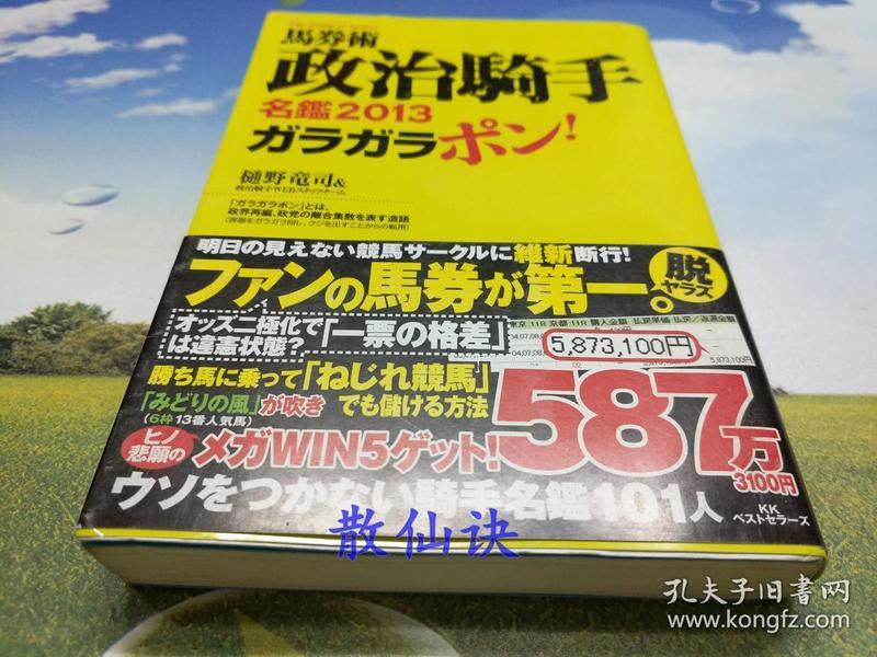 马券术政治骑手名鑑2013ガラガラポン!【平装】
