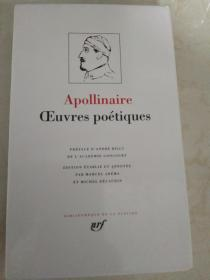Apollinaire : Oeuvres poétiques / Oeuvres poetiques 《阿波利奈尔诗歌全集》 法文原版  精装本  带套盒  品相佳