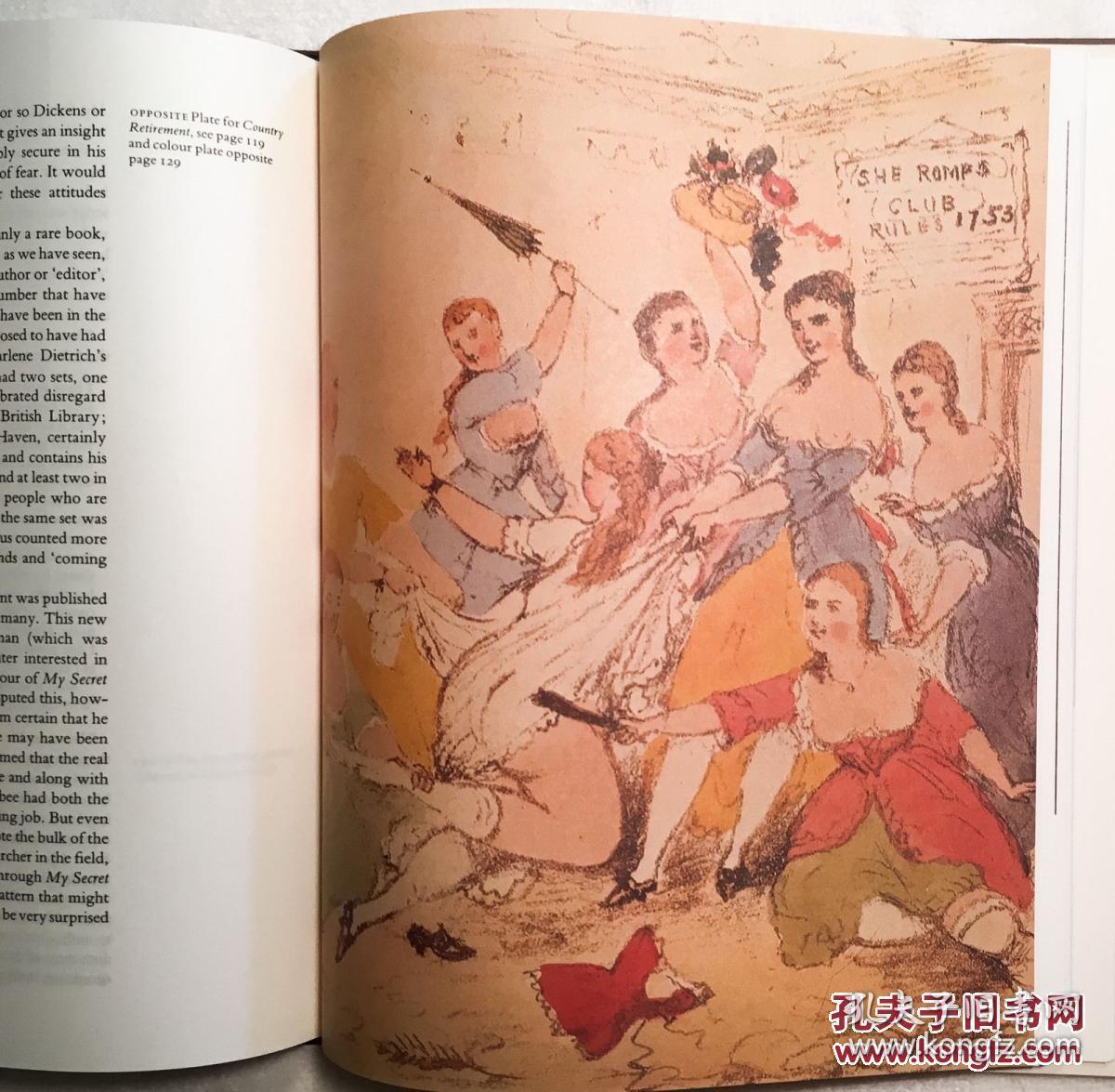 校园情色干师妹_稀少《情色文学史》彩色与黑白插图,1982年纽约出版,精装16开
