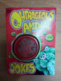 英文原版儿童笑话图书:Outrageous Animal Jokes  (装订方式如图所示)