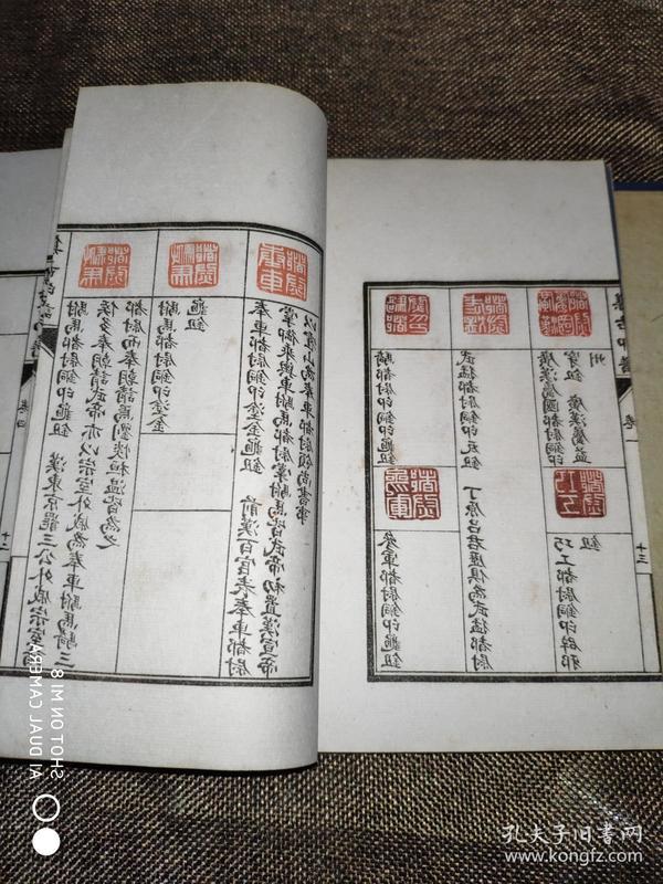 17799民国扫叶山房石印本《集古印谱》一函套四册全!触手如新!白纸精印!!