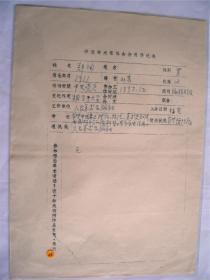 y0040中国美术家协会资料一页(郑洵)