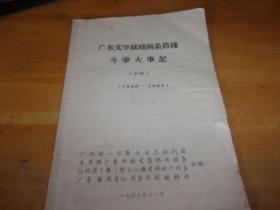 广东文学战线两条路线斗争大事记(初稿)(1949-1965)