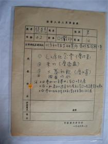 y0043中国美术家协会资料一页(张臣杰)
