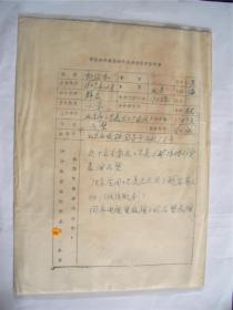 y0044中国美术家协会资料一页(郎绍安)