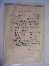 y0046中国美术家协会资料一页(叶如璋)