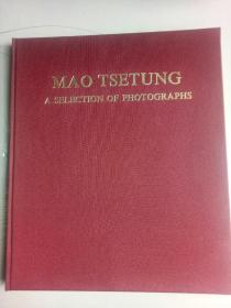 毛泽东主席照片选集【6开精装玻璃纸护封带外盒 英文1978年1版1印】品好