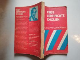 first certificate English