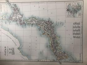 1895年 日本地图 非常精美 33*45cm