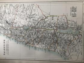 1895年 巴勒斯坦圣地地图 非常精美 33*45cm