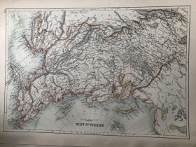 1895年 俄国亚洲部分地图 非常精美 33*45cm