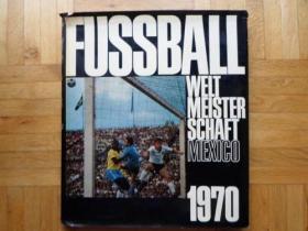 原版带软封硬精1970世界杯画册