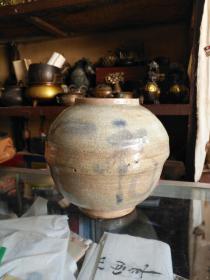 《明末清初  带盖双福青花哥窑罐》直径19厘米,高20厘米!少见!包老!顺丰包邮!