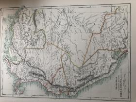 1895年 委内瑞拉秘鲁地图 非常精美 33*45cm