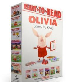 Olivia Loves to Read 6 Books Collection 小猪奥莉薇爱读书六册合辑