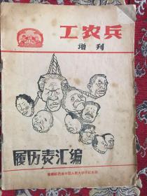 工农兵增刊 履历表汇编
