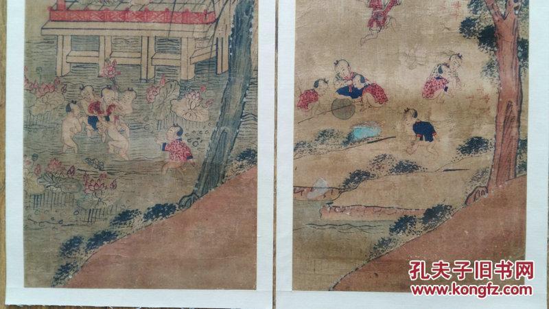 新中式绢丝手绘壁纸