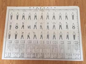 民国日本印刷《国民保健体操图解》一大张