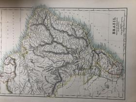1895年 巴西地图 非常精美 33*45cm