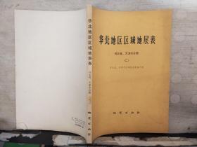 华北地区区域地层表 河北省、天津市分册(二)