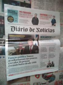 DIARIO DE NOTICIAS 葡萄牙新闻日报 2017/01/30 外文原版报纸学习资料