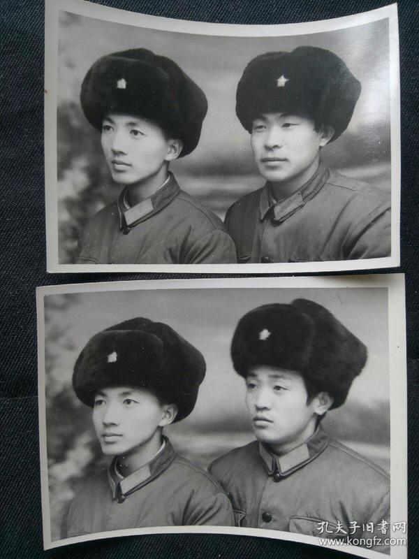帅气英俊的解放军战士 合影照片2张 小帅哥太漂亮了,完爆TFboys