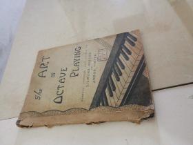 民国版the art of octave playing 八度音阶演奏艺术练习曲 老乐谱