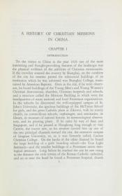 1929初版精装/英文原版/A History of Christian Missions in China (赖德烈《基督教中国传教史》