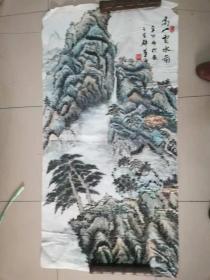 [3373  朱华  青绿山水画8平尺、