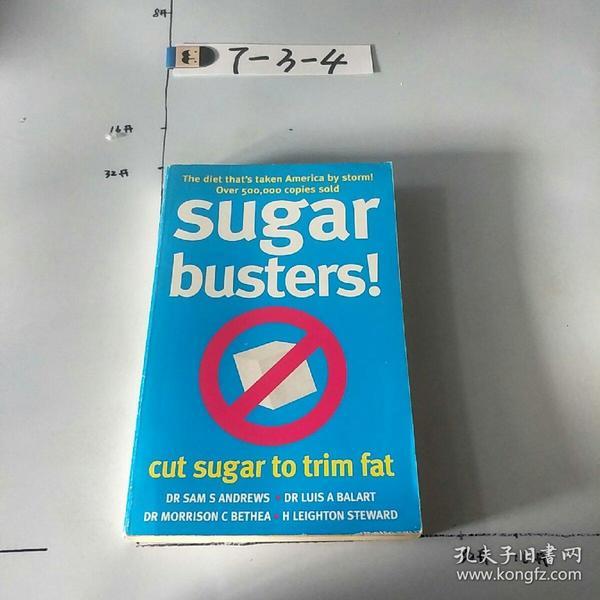 英文原版:Sugar Busters!: Cut Sugar To Trim Fat 书口封面微污渍。微黄斑微黄 正版