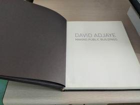 David Adjaye   Making Public Buildings  【英文原版,铜版纸彩印,插图丰富,品相佳】