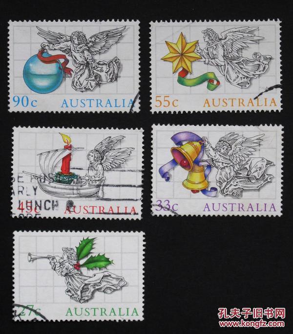 澳大利亚邮票----天使(盖销票)