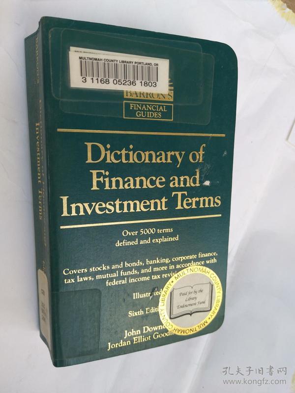 金融和投资术语词典Dictionary of Finance and Investment Terms