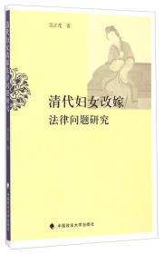 清代妇女改嫁法律问题研究