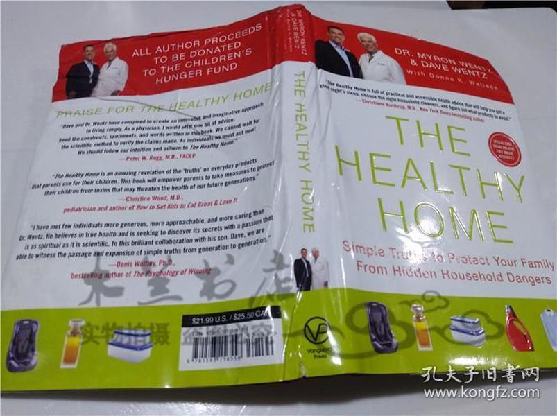 原版英法德意等外文书 The Healthy Home Dave Wentz and Dr.Myron Wentz Vanguard Press 2011年 16开硬精装