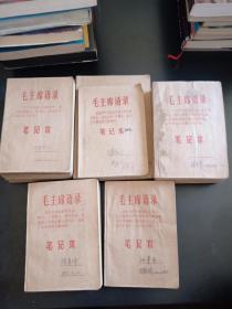 文革日记本 日记19册合售 名家日记.1968年到1972年 如图