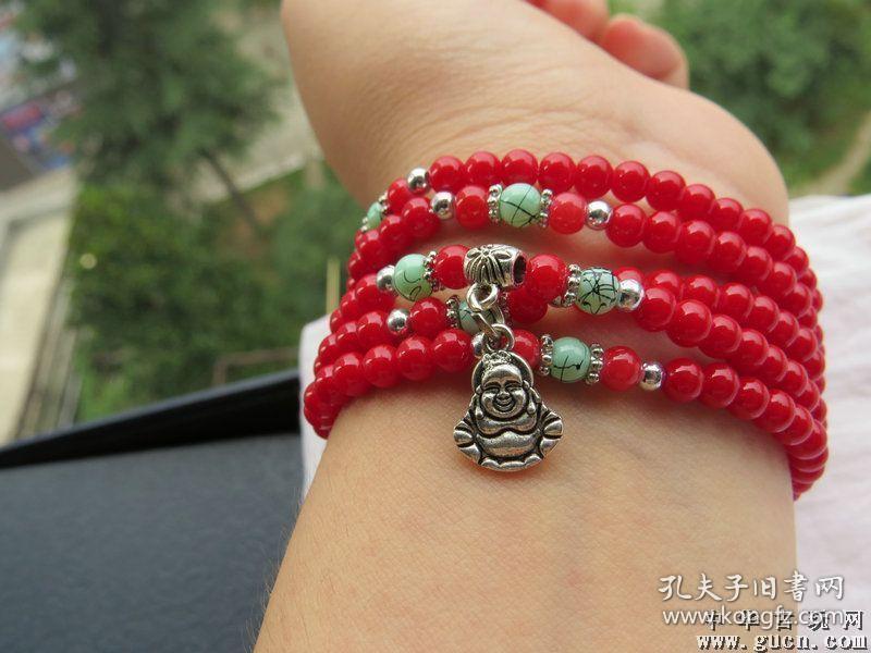 清代老红珊瑚手链