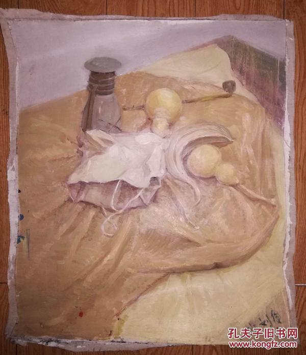 面油画:刘俊屹静物(静物 画芯尺寸60x50)-油画 西画 名人字画