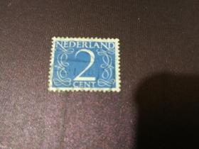 荷兰邮票 1953年 数字2 邮票(信销票)