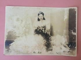 照片,民国美女结婚照