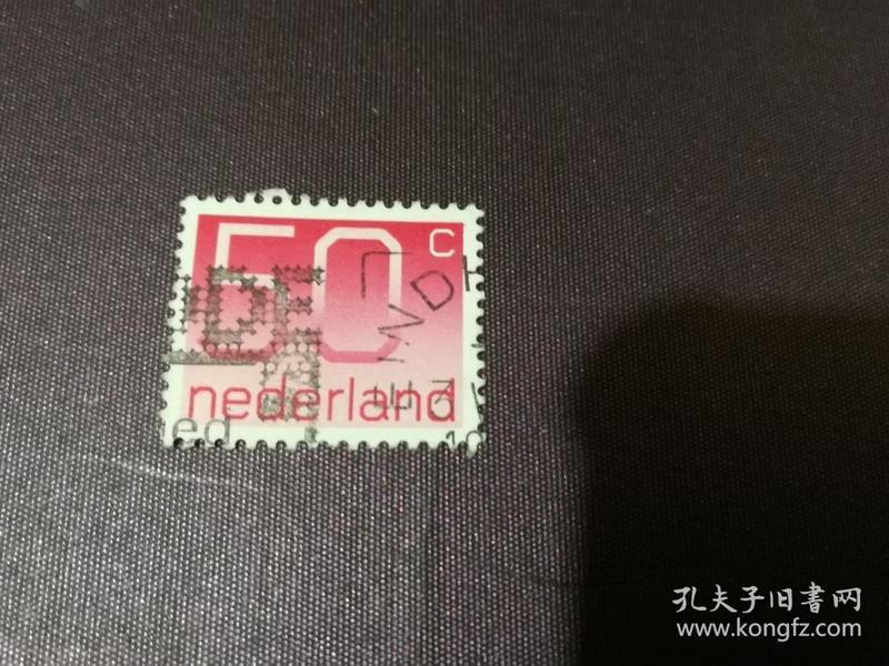 荷兰邮票 1976年数字50邮票 (信销票)