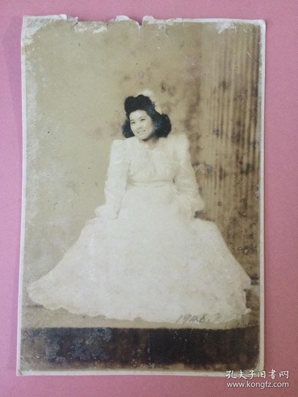 照片,民国美女结婚照3
