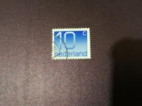 荷兰邮票 1976年数字10邮票 (信销票)