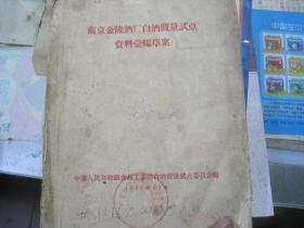 南京金陵酒厂白酒质量试点资料汇编草案【1956年12月】【146页 缺封底】