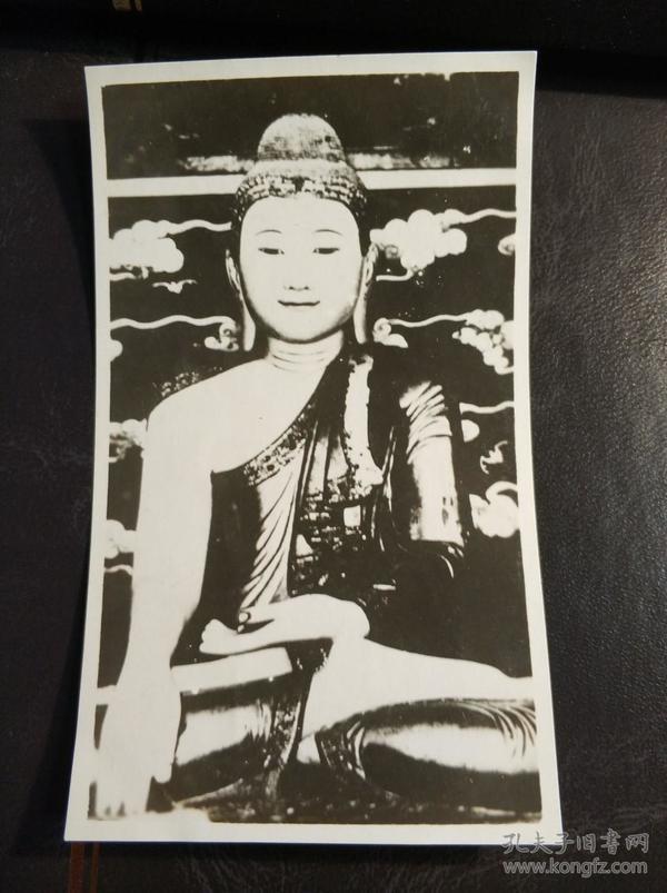 民国北京北海翡翠佛像照片一张