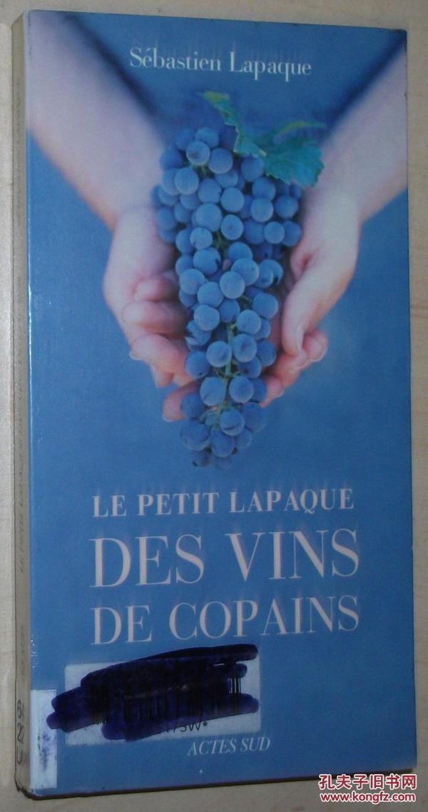 法语原版书 Le petit Lapaque des vins de copains  de Sébastien Lapaque 概述了葡萄酒新格局。汇集几乎所有法国风土的一百种葡萄酒