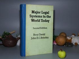 《Major Legal Systems in the World Today》(英文版 -16開 精裝)1980年代 內地翻印本※ [《當代世界主要法律制度:法律比較研究導論 第二版》 -An Introduction to the Comparative Study of Law -西方法學思想、政治學 研究文獻]