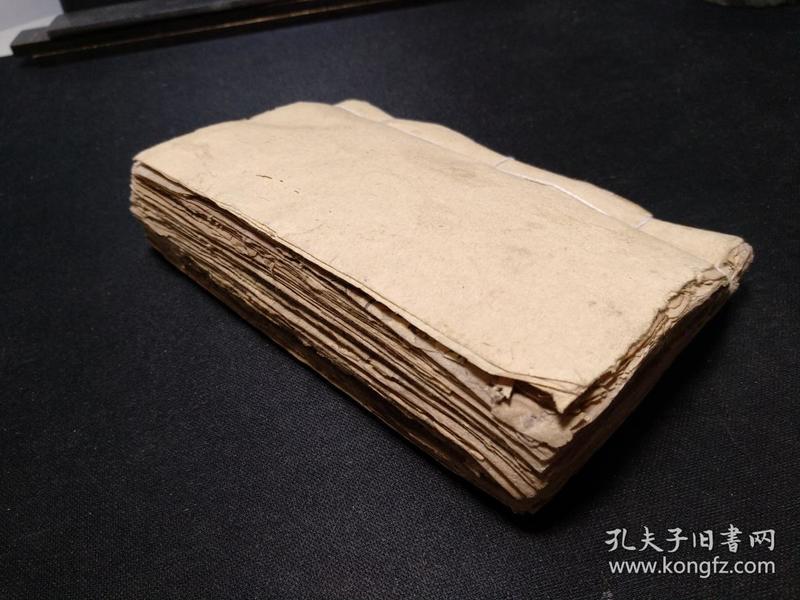 古本堪舆手抄,定龙内消砂纳水,写了不少水法和点穴寻龙内容,52筒子页写满。整本虫蛀的地方都已经进行老旧修复,字阅读无碍。